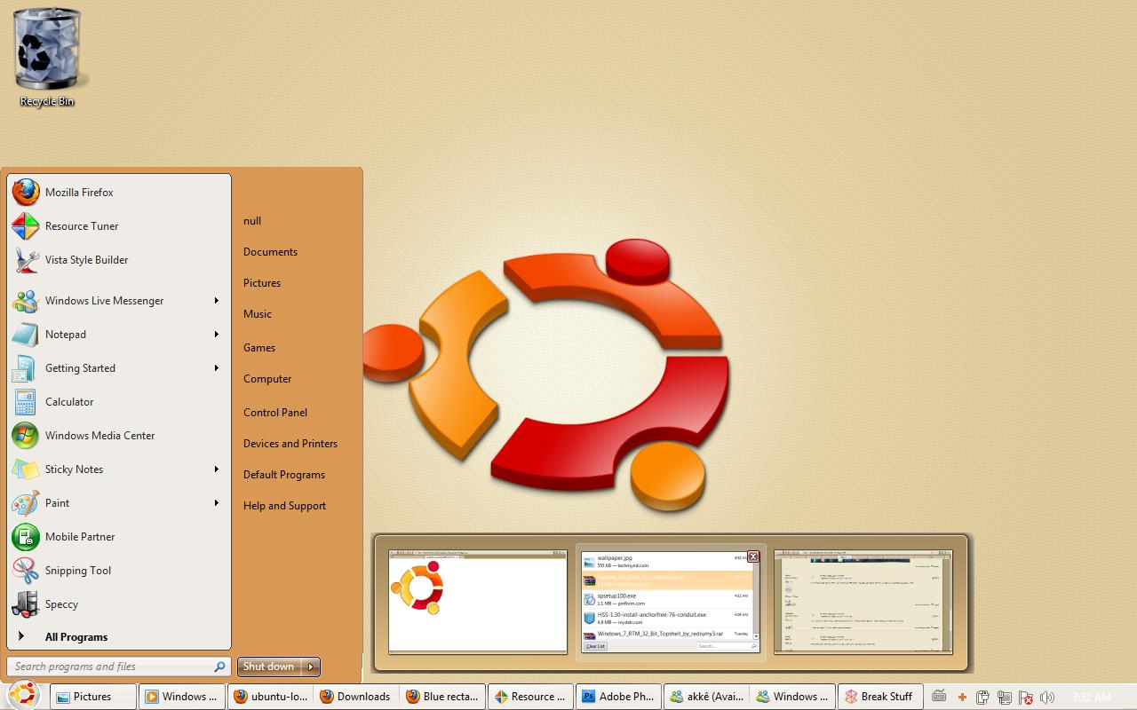 windows 7 ubuntu by nullz0rz