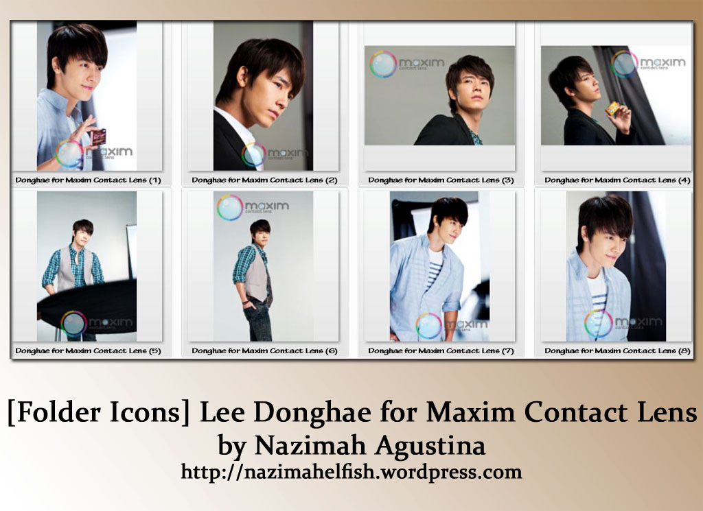 [Folder Icons] Super Junior Donghae for Maxim