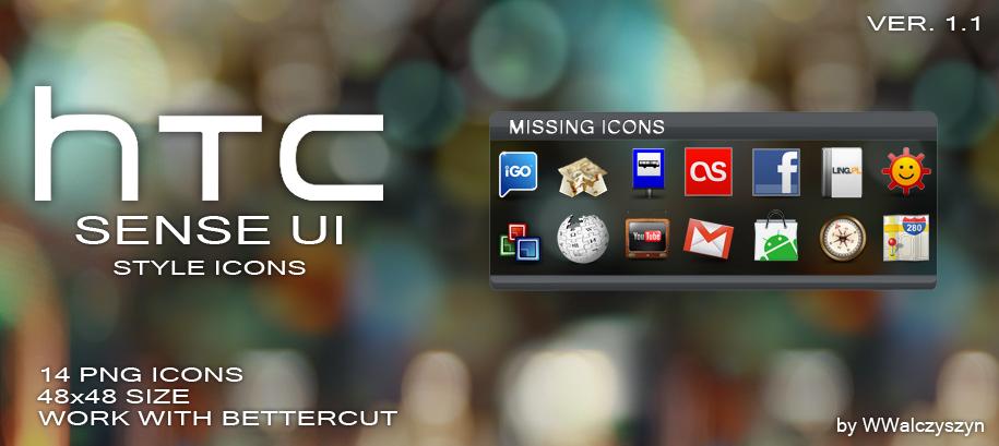 HTC Sense UI Style Icons by wwalczyszyn