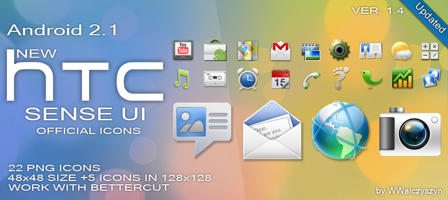 New HTC Sense UI 2 1 Icons by wwalczyszyn Icon Pack per Android