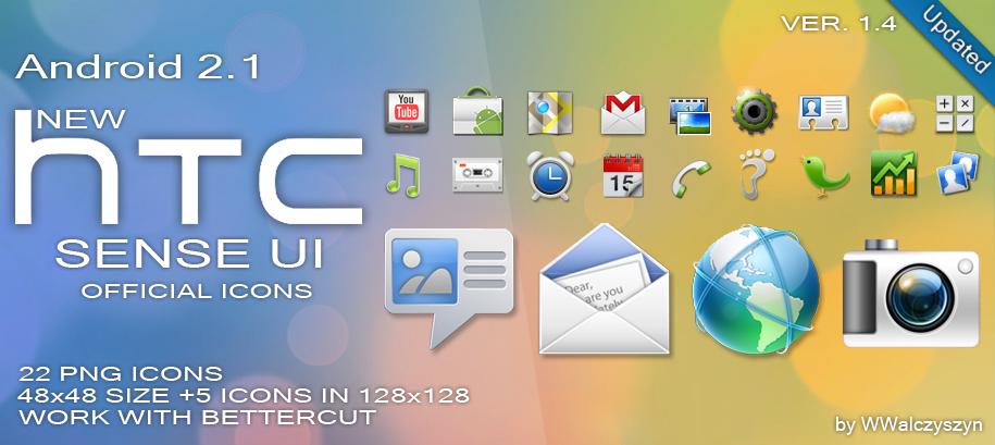 New HTC Sense UI 2 1 Icons by wwalczyszyn Icon Pack 4 per Android: Sense 2.1