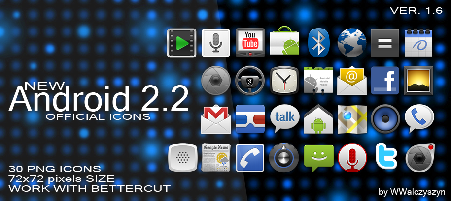 Android 2.2 Official Icons by wwalczyszyn