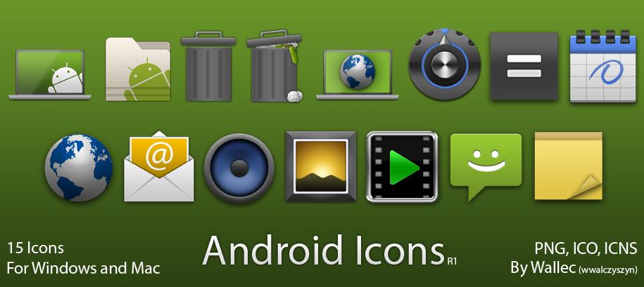 Android Style Icons R1 by wwalczyszyn