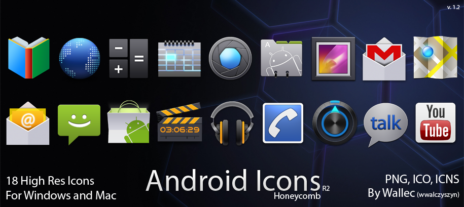 Android Icons R2 - Honeycomb