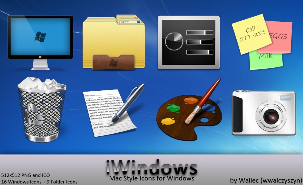 Mac style Windows 7 icon set 1
