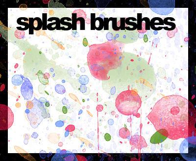 Splash Brushes by mokashine
