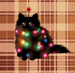 [ GIF oh Christmas cat Oh Christmas cat  ] by LittlePidgie
