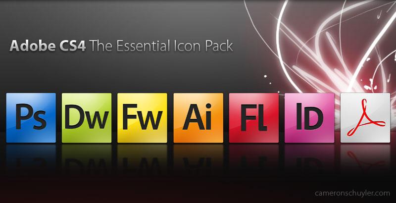 Adobe CS4 Icon Pack Essentials by Cameron-Schuyler