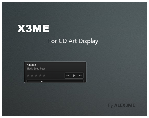 X3ME - CD Art Display by ALEX3ME