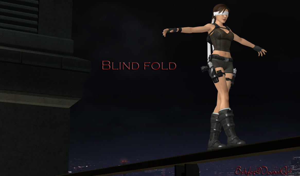 100% pose-able Blindfold by bstylez