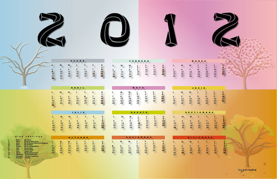 2012 Calendar by Jessfburdie