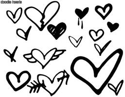 Doodle Hearts by audacious-milly