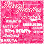 Reen's Favorite Fonts