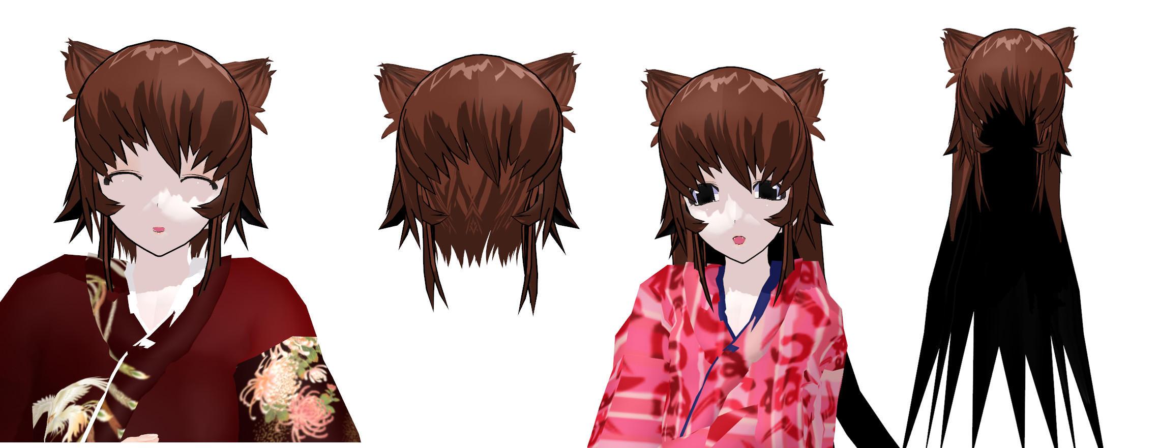 MMD Neko Hair download by 9844
