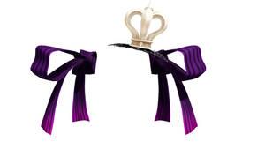 MMD NJXA Purple twin tie with crown  Download