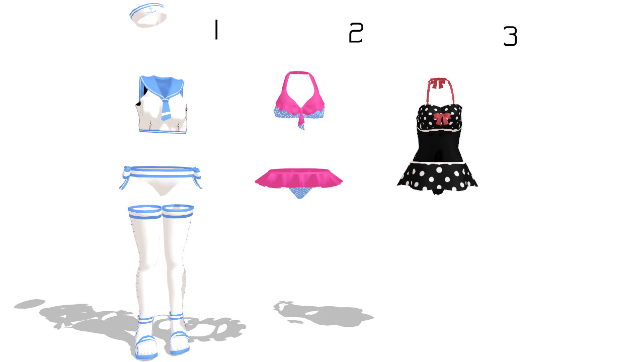 MMD bikini Pack Download by 9844