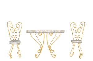 MMD marble topped chair and table Donwload by 9844
