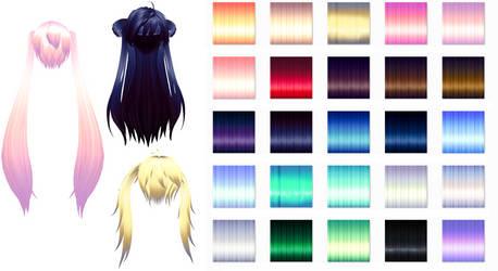 MMD Nxja Texture hair pack Download