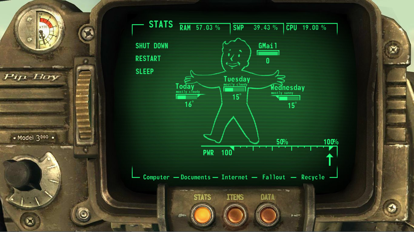 Rainmeter Fallout Pipboy Suite