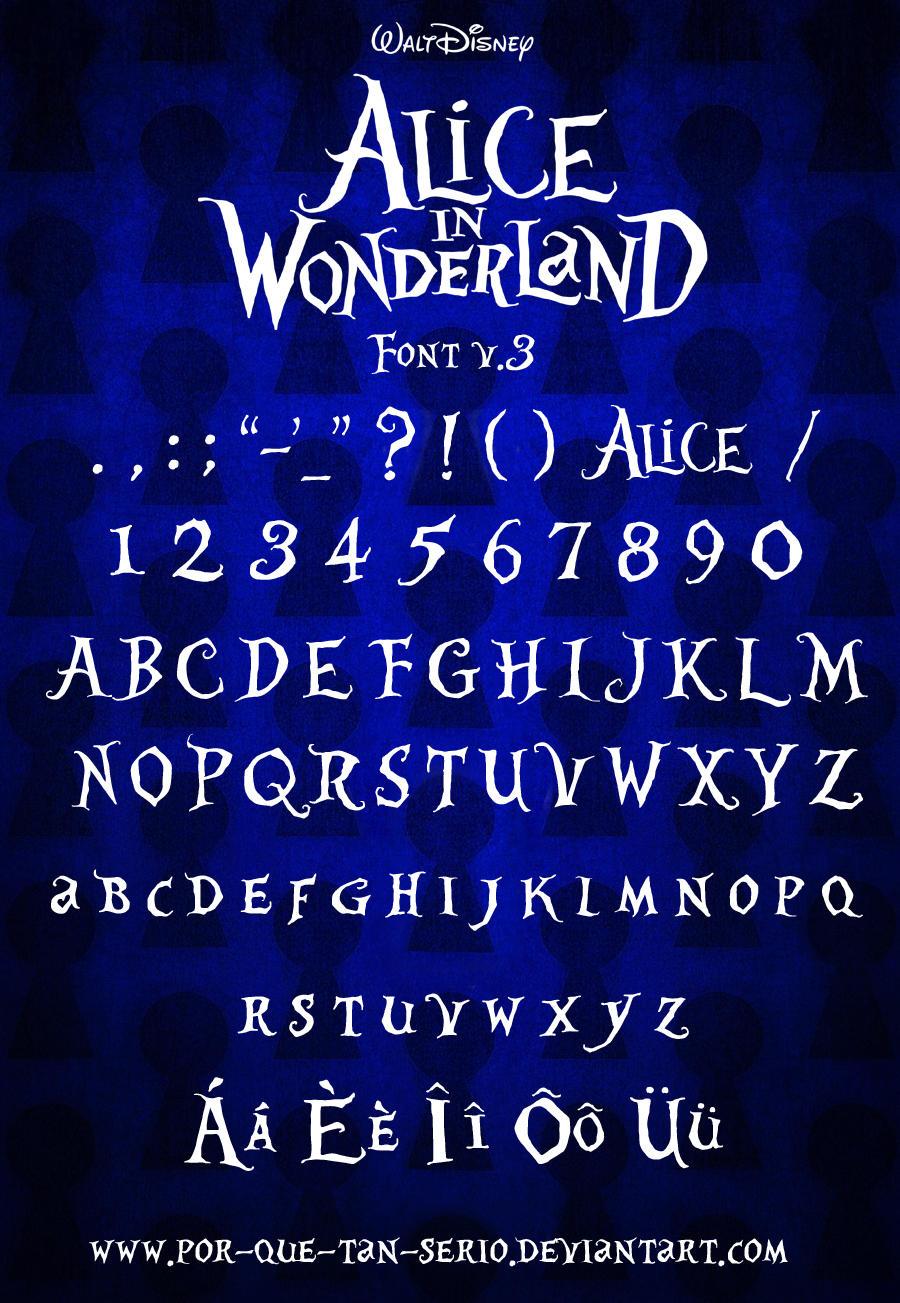 Alice in Wonderland Font by por-que-tan-serio