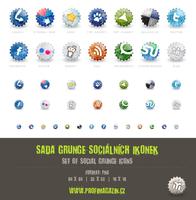 Set of social grunge icons by Tydlinka