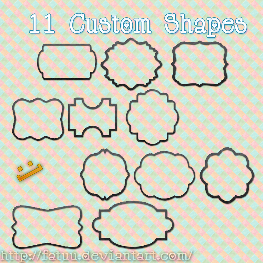 Custom Shapes For Photoshop by Fatuu