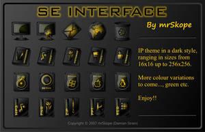 SE Interface yellow by mrSkope