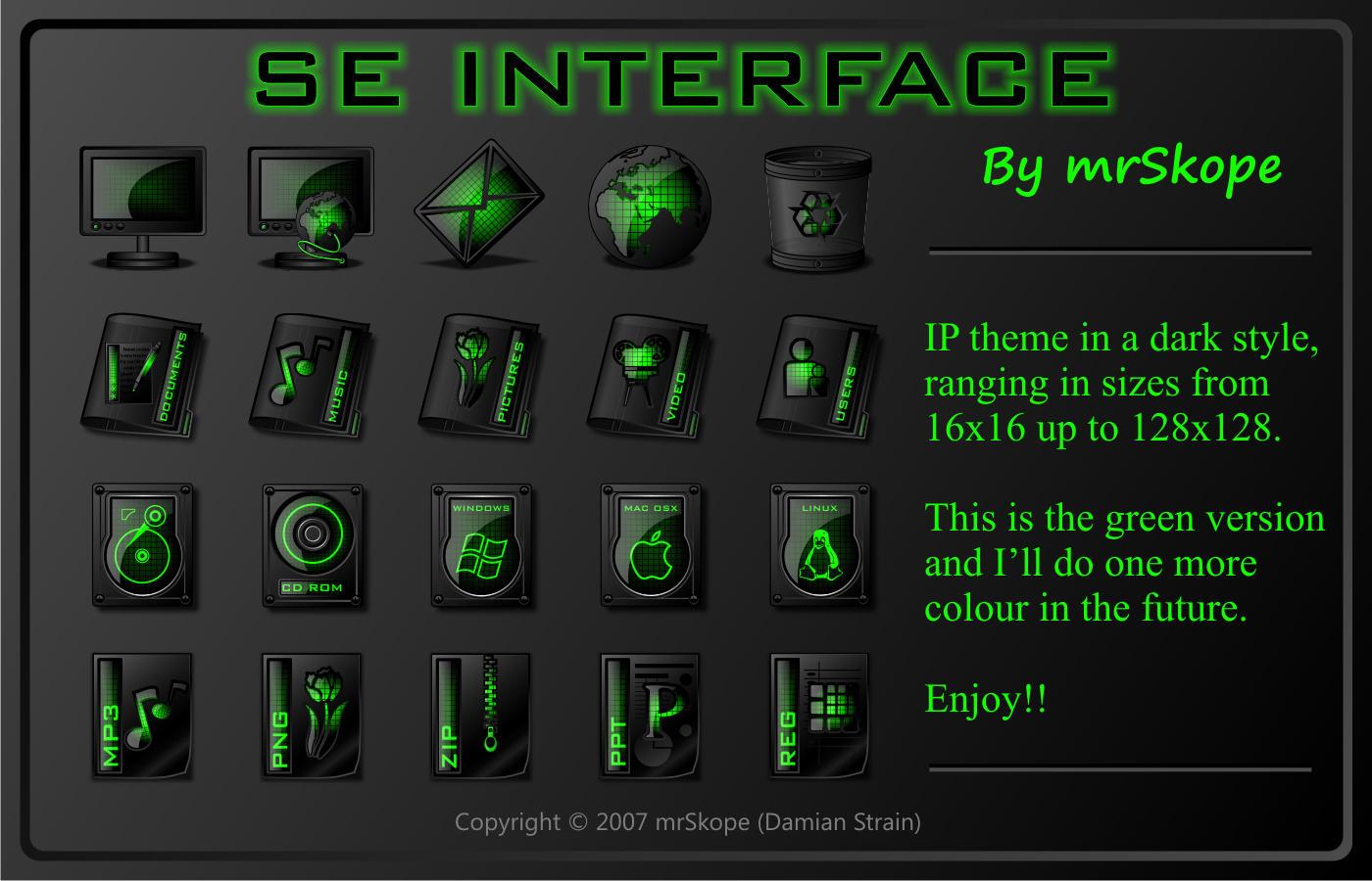 SE Interface Green by mrSkope