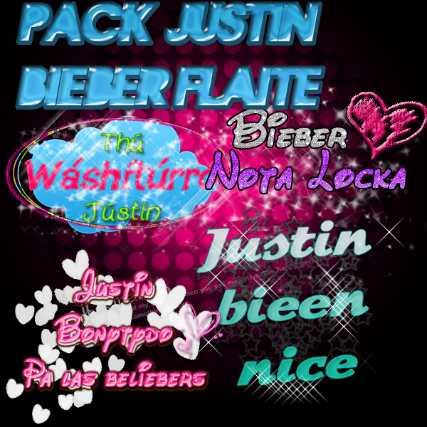 Embale PNG'S JBieber FLAiTE xD por KthiithaEditions