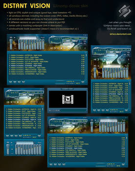 Distant Vision 1.00 Winamp classic skin