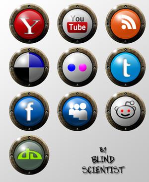 Social Media 10 Icon Set