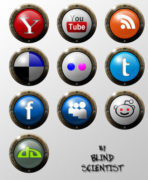 Social Media 10 Icon Set by BlindScientist