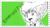 Emerald fan stamp by Alexg47