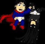 Superman v. Batman (Baby) by WaywardMartian