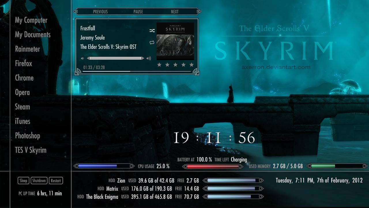 Skyrim Rainmeter Suite v2