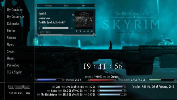 Skyrim Rainmeter Suite v2 by Axerron