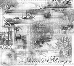 Antique Stamps PSP by exotika-brushes