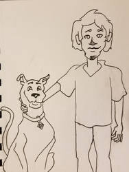 Scooby and Shaggy Line Art by JokeHunk