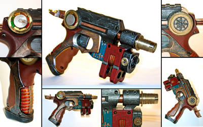 my  nerf nite finder steampunk by DoC-OxY