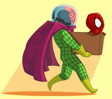 Mysterio's Got a Box Fulla Spidey by Empty-Brooke