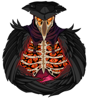 Plague Doctor [orange] by Empty-Brooke