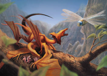 Four-winged dragons by Quentinvcastel