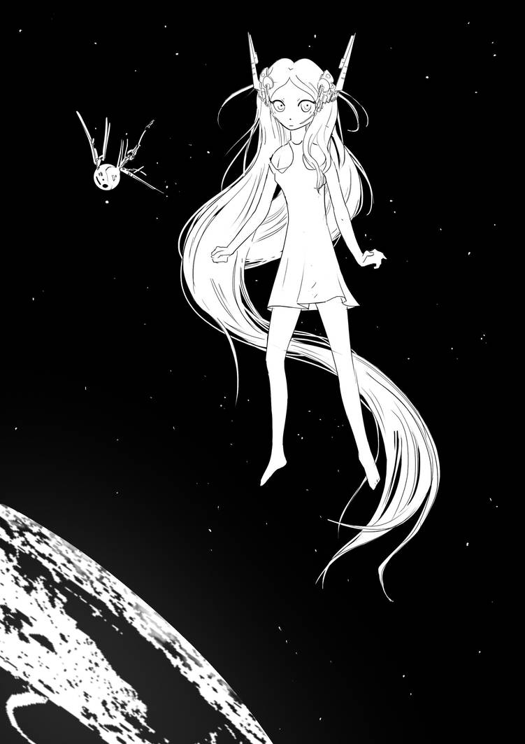 Little space girl by Quentinvcastel