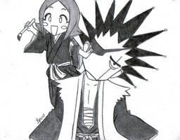 Kenny and Yachiru by LadySkelly