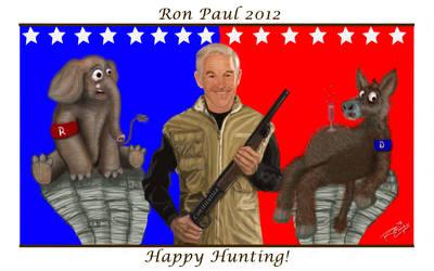 Ron Paul Hunter Cartoon by rwcombs