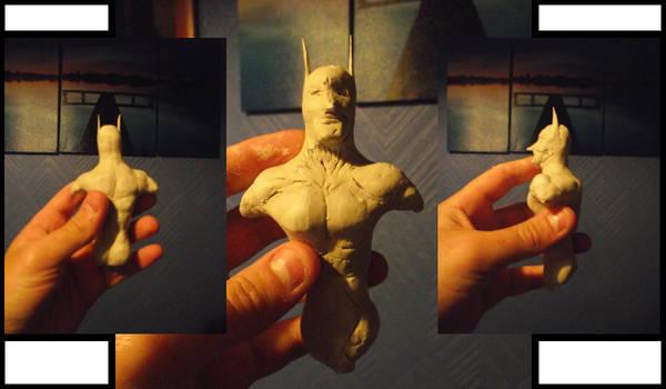 Batman Mini Clay Bust by Neutron-Flow
