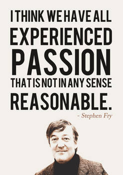 Stephen Fry Quote Poster by Neutron-Flow