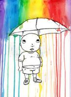 FatKid in Watercolors by MonkeyMan504
