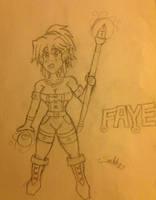 Faye OC WIP by SnidelyOne