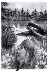 Book Commission: An Otter by mustingel